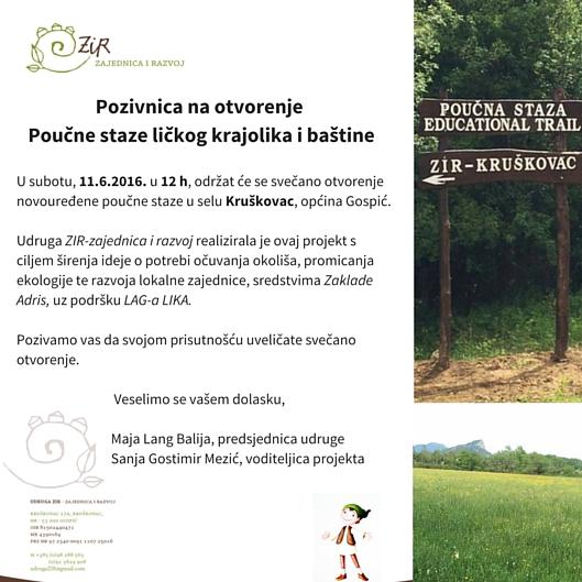 Otvorenje Poučne staze ličkog krajolika i baštine (1)